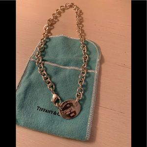 "Authentic Tiffany classic ""return to"" necklace"